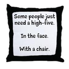 High-five chair Throw Pillow