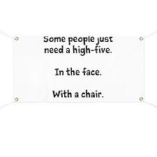 High-five chair Banner