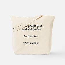 High-five chair Tote Bag