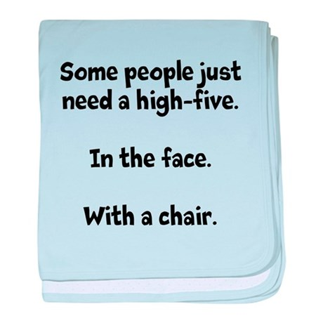 High-five chair baby blanket