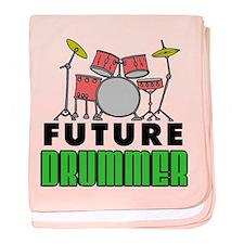 Future Drummer (Pink) baby blanket