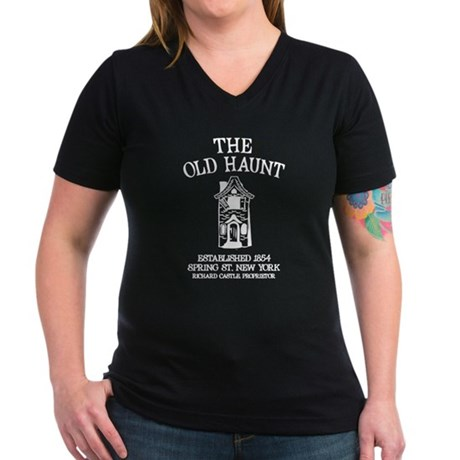 Castle - The Old Haunt Women's V-Neck Dark T-Shirt