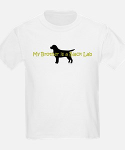 My Brother is a Black Lab T-Shirt
