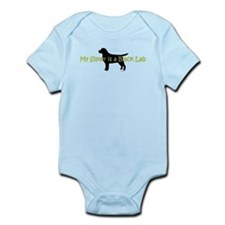 My Sister is a Black Lab Infant Bodysuit