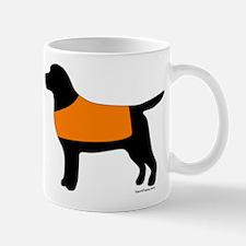 Black Lab - Orange Vest Mug