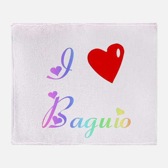 I Love Baguio Gifts Throw Blanket