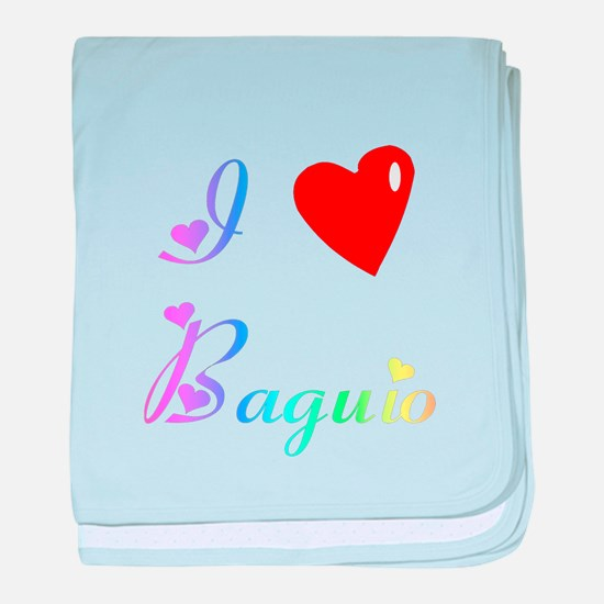 I Love Baguio Gifts baby blanket