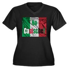 No Capische! Women's Plus Size V-Neck Dark T-Shirt