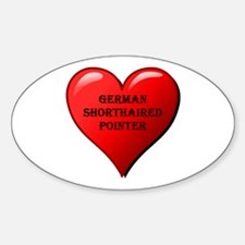 german shorthaired pointer heart Decal