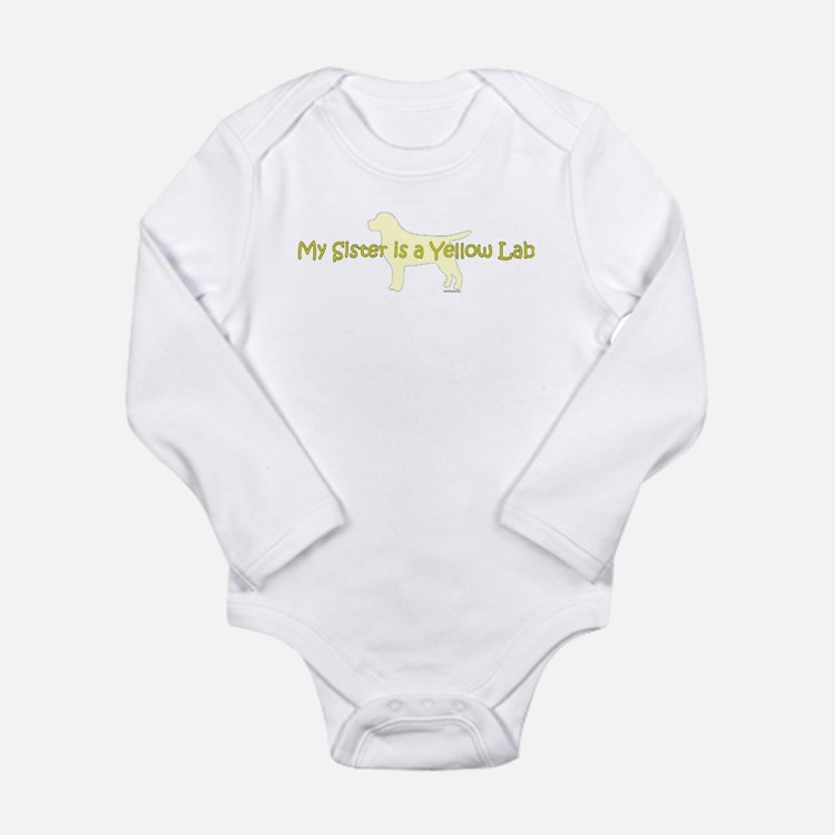 My Sister is a Yellow Lab Onesie Romper Suit