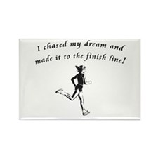 Cool Half marathon runner Rectangle Magnet