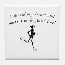 Cute Marathon runners Tile Coaster