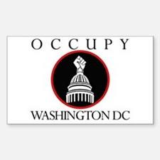 Occupy Washington DC Sticker (Rectangle)