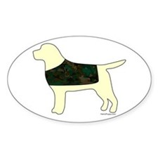 Yellow Lab - Camo Vest Decal