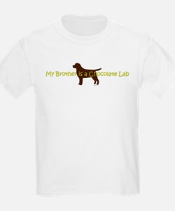My Brother is a Chocolate Lab T-Shirt