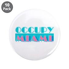 """Occupy Miami 3.5"""" Button (10 pack)"""