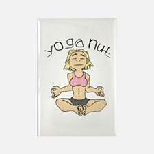 Yoga Nut Rectangle Magnet