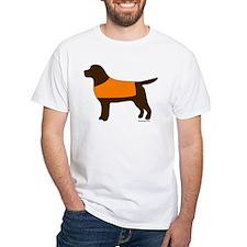 Chocolate Lab - Orange Vest Shirt