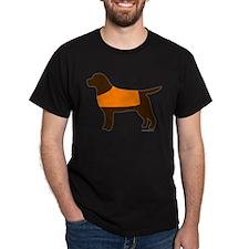 Chocolate Lab - Orange Vest T-Shirt