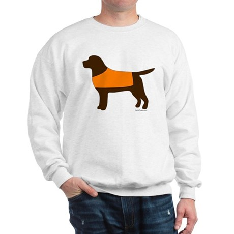 Chocolate Lab - Orange Vest Sweatshirt
