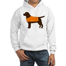 Chocolate Lab - Orange Vest Hoodie