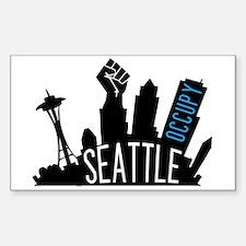 Occupy Seattle Sticker (Rectangle)