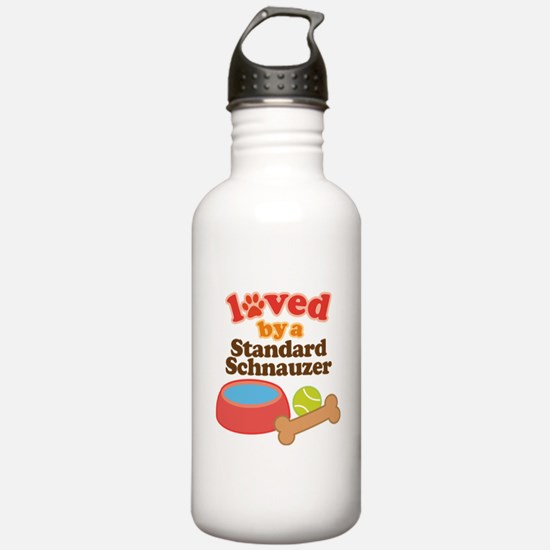 Standard Schnauzer Dog Gift Water Bottle