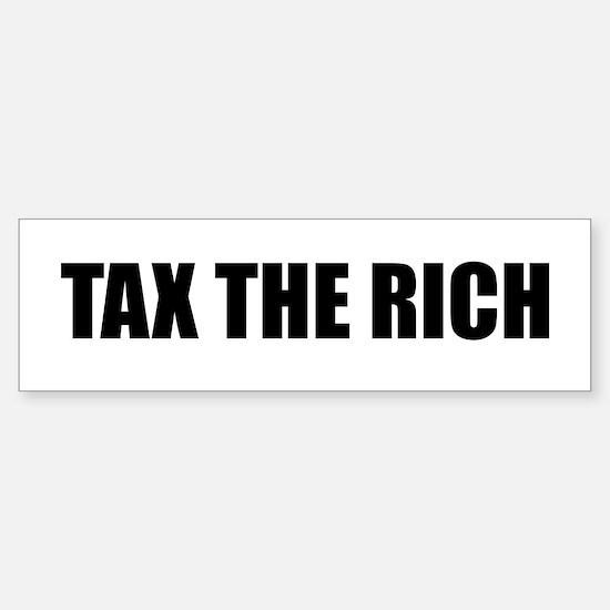 Tax the Rich Sticker (Bumper)