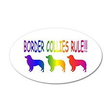 Border Collies 22x14 Oval Wall Peel