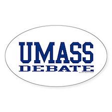"""UMass Debate"" Oval Decal"