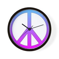 PS Bl/Pu Wall Clock