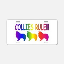 Collie Aluminum License Plate