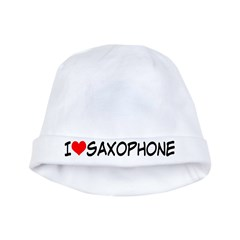 Saxophone Music baby hat