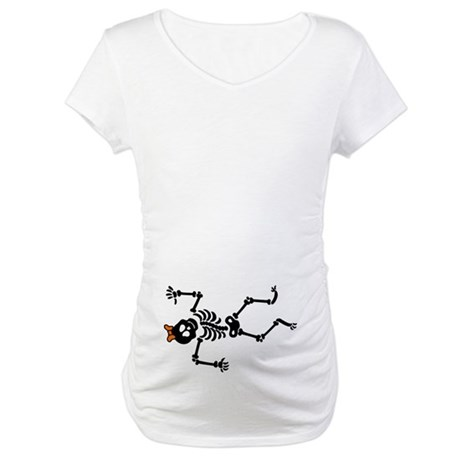 Lil Girl Skeleton Maternity T-Shirt