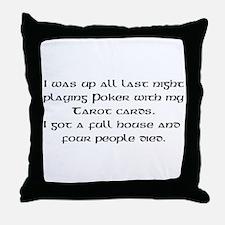 Poker Tarot Throw Pillow