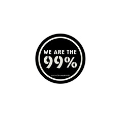 Occupy Wall St Mini Button (10 pack)