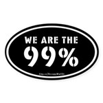 Occupy Wall St Sticker (Oval)