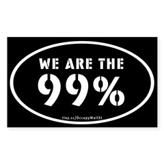 Occupy Wall St Sticker (Rectangle 10 pk)