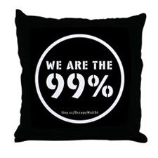 Occupy Wall St Throw Pillow