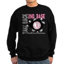 Second 2nd Base Breast Cancer Sweatshirt