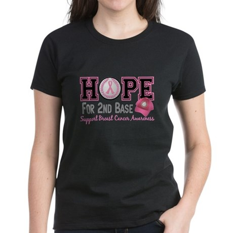Second 2nd Base Breast Cancer Women's Dark T-Shirt