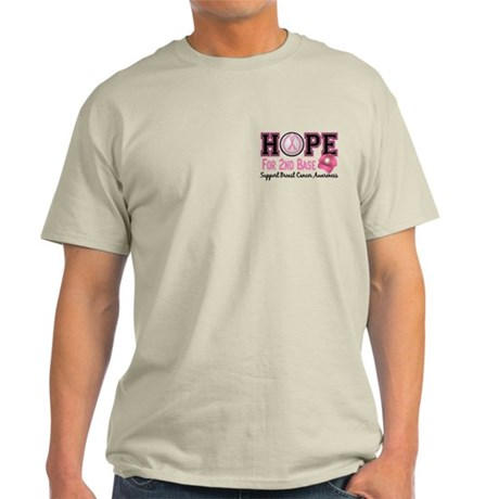 Second 2nd Base Breast Cancer Light T-Shirt