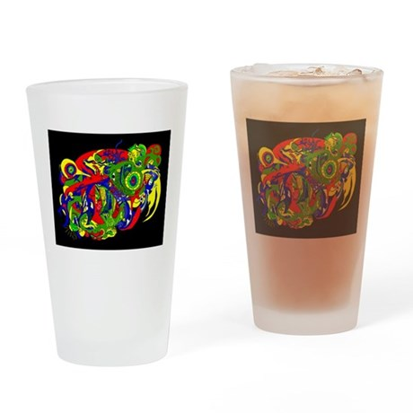 Abstract Clothing Drinking Glass