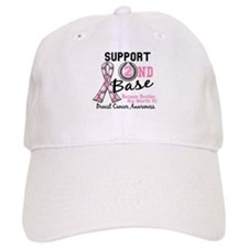 Second 2nd Base Breast Cancer Baseball Cap