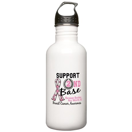 Second 2nd Base Breast Cancer Stainless Water Bott