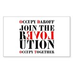 #OccupyDaroff Sticker (Rectangle 10 pk)