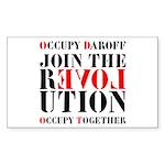 #OccupyDaroff Sticker (Rectangle)