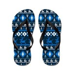 Retro Christmas Patterned Flip Flops