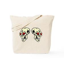 Red Eyed Skulls Tote Bag