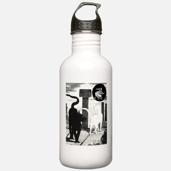 Manet Black Cat Water Bottle